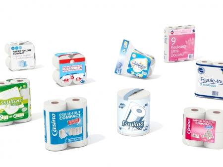 Papier toilette & essuie-tout